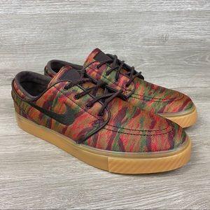 Nike SB Stefan Janoski Camo Gum Sneakers 7.5 NWOB